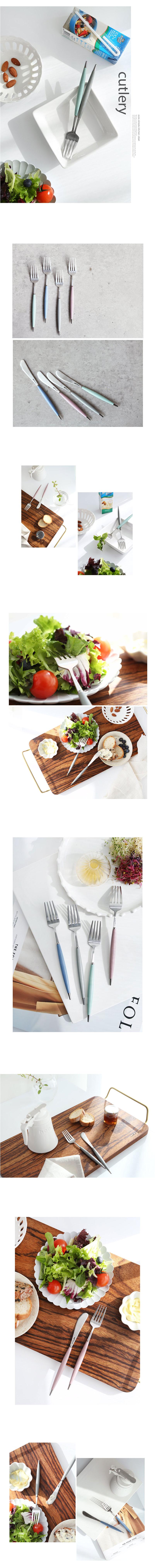 모던파스텔 버터나이프 샐러드포크(4color) lovesweety - 꾸미기 좋은날, 7,700원, 숟가락/젓가락/스틱, 숟가락/젓가락 세트
