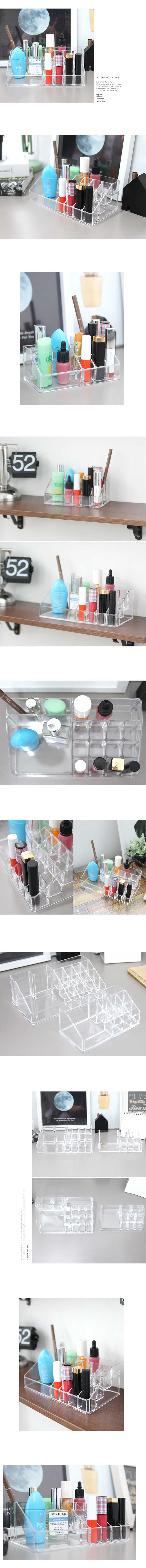 클리어 립스틱홀더(2size) lovesweety - 꾸미기 좋은날, 10,000원, 정리함, 화장품정리함